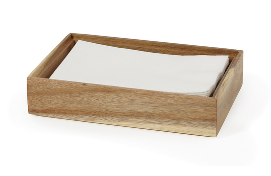 "9"" x 6"" Rectangular Wood Stackable Display Box / Condiment Organizer, 2"" tall"