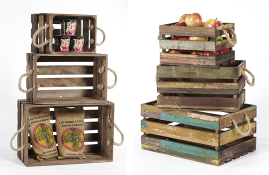 Reclaimed Wood Crates & Trays