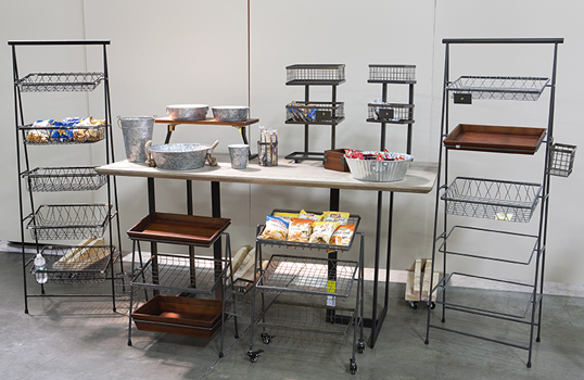 Urban Renewal Risers, Stands, & Merchandiser Displays