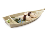 "10 oz. 2-Compartment Boat Plate 10.5"" x 4.75"""