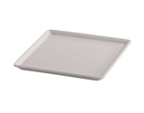 "13"" x 13"" White Square China Plate for Cold Food Displays"