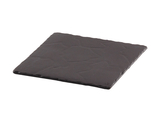 "11.8"" x 11.8"" Black Square China Plate for Cold Food Displays"