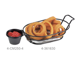 """13.25"""" x 6"""" Oval Basket w/ Handle and 1 Holder"""