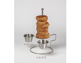 "Onion Ring Tower w/ 2 Holders, 4"" dia."