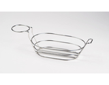 """9"""" x 6"""" Oval Basket w/ Handle and 1 Holder"""