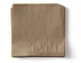 """5.5"""" x 5.5"""" Food-Safe Double-Open Bag / Wire Cone Basket Liner / Deli Wrap, Brown"""
