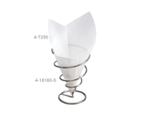 "7"" x 7"" Food-Safe Double-Open Bag / Wire Cone Basket Liner / Deli Wrap, White"