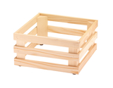 "13"" x 13"", 6.7""  tall, Untreated Wooden Base Frame / Riser for Cold Food Displays"