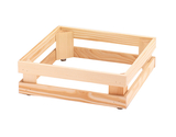 "13"" x 13"", 4.1""  tall, Untreated Wooden Base Frame / Riser for Cold Food Displays"