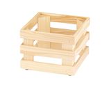 "9"" x 9"", 6.7""  tall, Untreated Wooden Base Frame / Riser for Cold Food Displays"