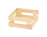 "9"" x 9"", 4.1"" tall, Untreated Wooden Base Frame / Riser for Cold Food Displays"