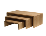 "12"" Bamboo Riser Set of 3"