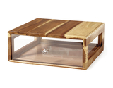 "14.75"" x 12.75"" Rectangular Stackable Wood Bread Box w/ Acrylic Drawer"