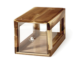 "12.25"" x 6"" Square Stackable Wood Bread Box w/ Acrylic Drawer, 6"" tall"