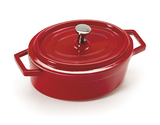 12 oz. Mini Induction Ready Oval Pot w/ Lid