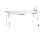 """Acrylic Rectangular Sneeze Guard, Portable and Adjustable Incline for a 25"""" Display"""