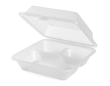3-Compartment, Polypropylene, Food Reusable Container