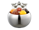 5-Carafe Polished Stainless Steel Beverage Tub Set