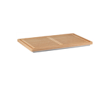 Wooden Bread Board w/ Stainless Steel Reservoir for Collecting Bread Crumbs