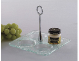 "6"" Square Jelly Jar Dish"
