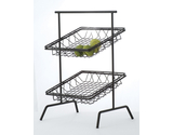 "12"" Square 2-Tier Basket Stand"