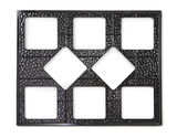 """27"""" x 21.5"""" Tile with Eight Cut-Outs"""