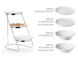 "3-Tier Cascading Stand with Six 10.5"" White Plates"