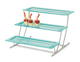 "3-Tier Cascading Stand with Six 21.5"" x 8.25"" Caché™ Trays"
