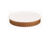 "16.1"" Cold Food Display Set with Tan Wicker Basket Base"
