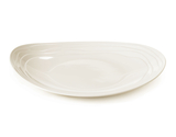 """12.5"""" x 10.5"""" Textured Rim Oval Coupe Platter"""