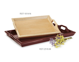 "25"" x 16"" Hardwood Room Service Tray"