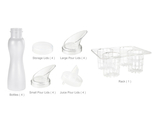 25 pc. Salad Dressing Bottle Set, Frosted Clear