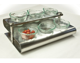"15.25"" x 10"" ""S"" Shaped Condiment Rack"