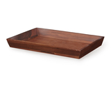 "18.25"" x 12"" Rectangular Wood Tray, 2"" tall"