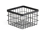 """6"""" Square Wire Basket, 4"""" tall"""