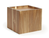 "9.5"" Square Wood Riser for Acrylic Juice / Beverage Dispenser, 8"" tall"