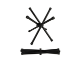 "12"" Black, Powder Coated Aluminum, Folding Chopsticks Stand"